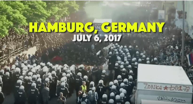 "Short video from ""Welcome to Hell"" March against G20 meeting – Hamburg"
